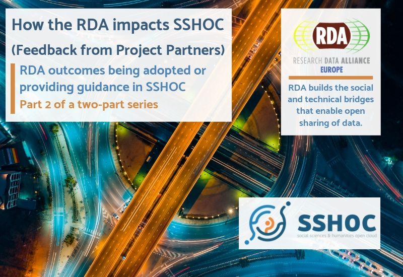 How the RDA impacts SSHOC - Feedback from project partners